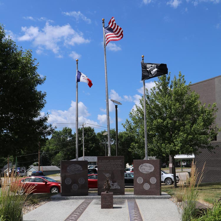 Flags outside county administration building