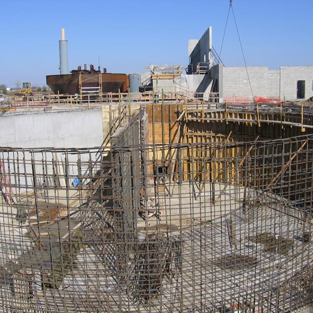 contruction taking place at city of nevada water plant