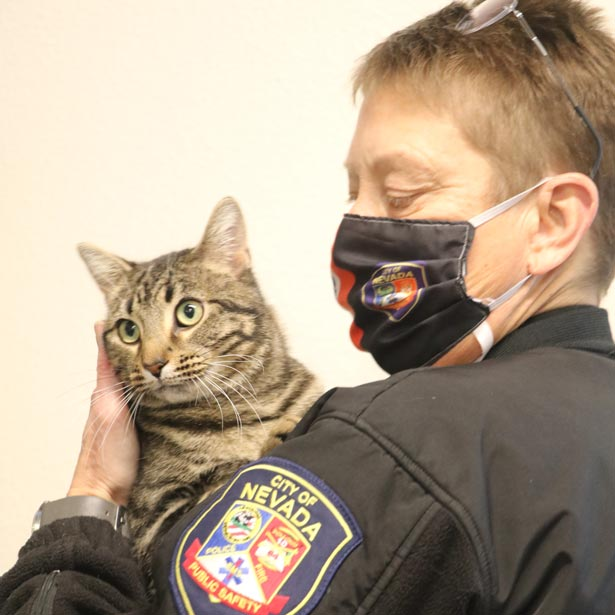 Nancy Pritchard with Cat